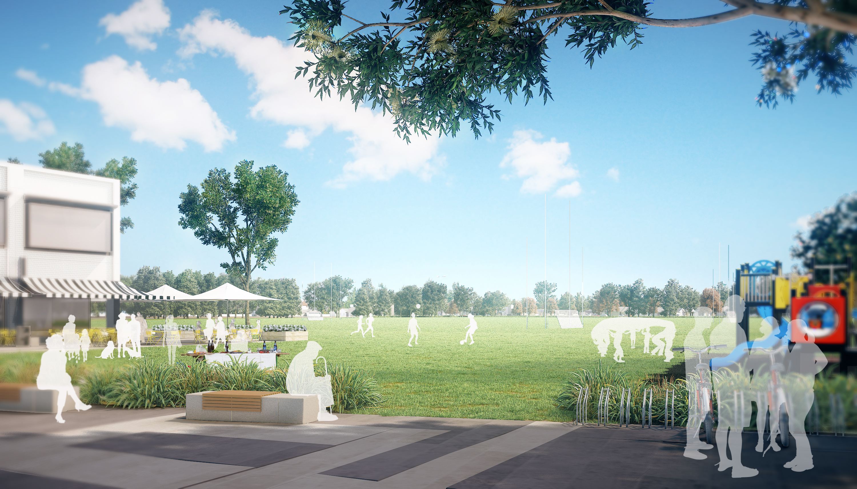 """The development precinct boasts ample """"quality open space that celebrates the natural environment"""" and """"new green corridors for residents""""."""