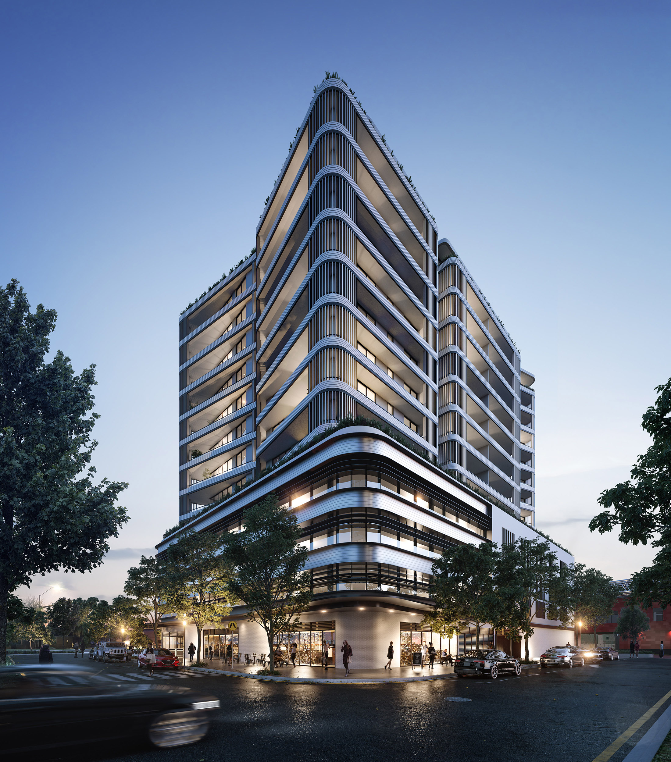 Located at 10 Dangar Street, Wickham, the development totals 97 residential apartments, targeting the sophisticated, downsizer market featuring generous unit sizes, luxurious fixtures, fittings and finishes.