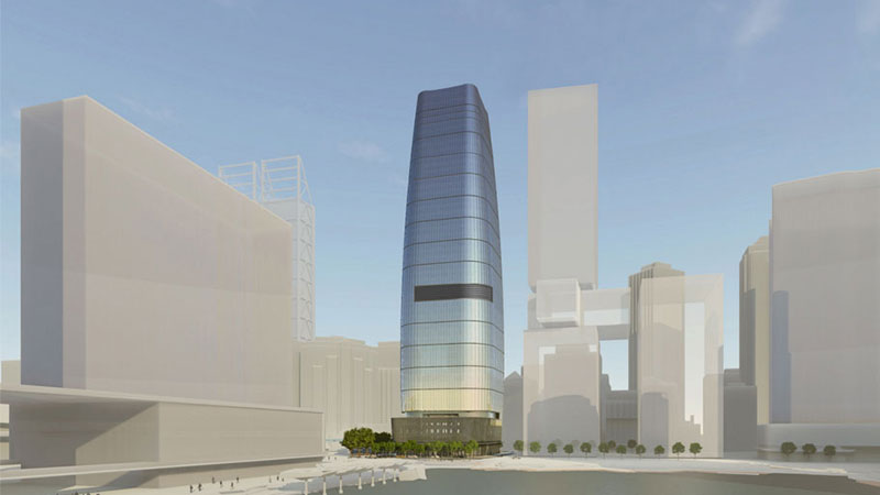 ▲ The building's unique tapered form will add to Perth's rapidly changing skyline.