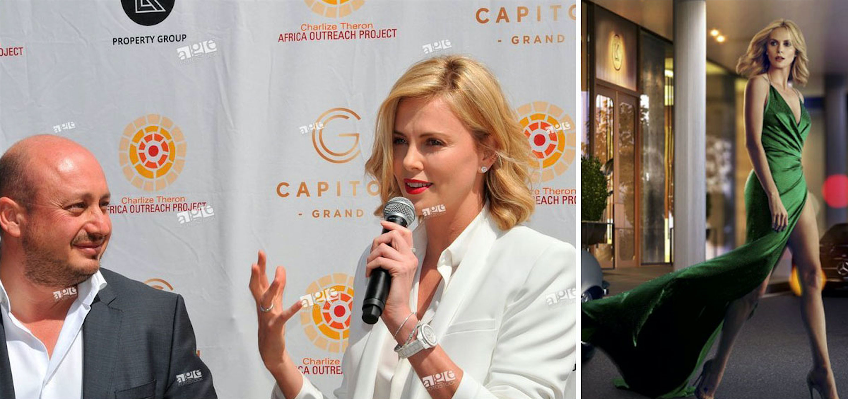 """The developer nabbed Hollywood star Charlize Theron as the """"face"""" of the Capitol Grand in its marketing campaign."""