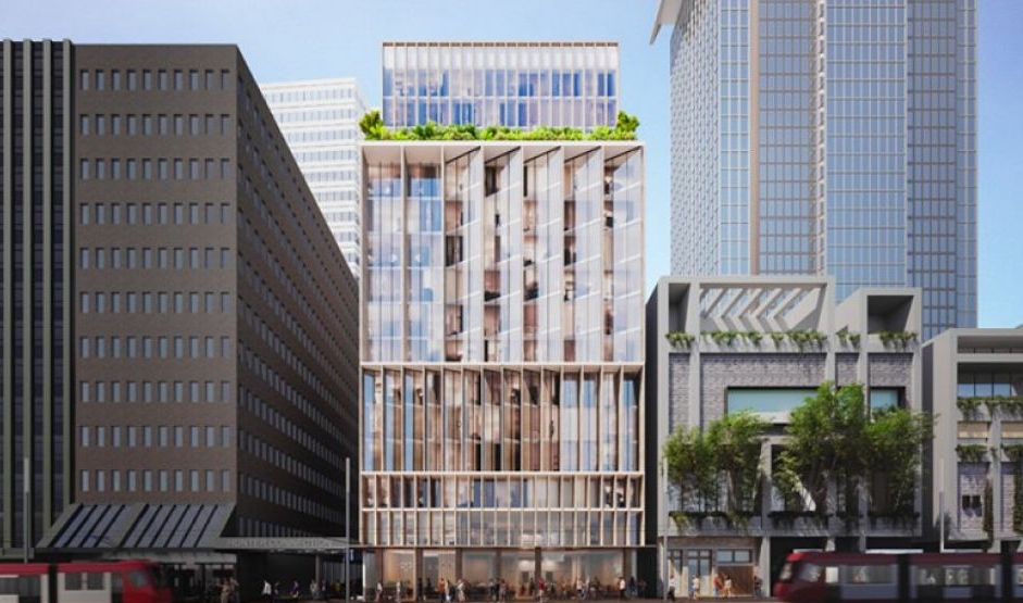 The now-defunct scheme for 312-318 George Street, submitted by Westpac and ATG Projects.
