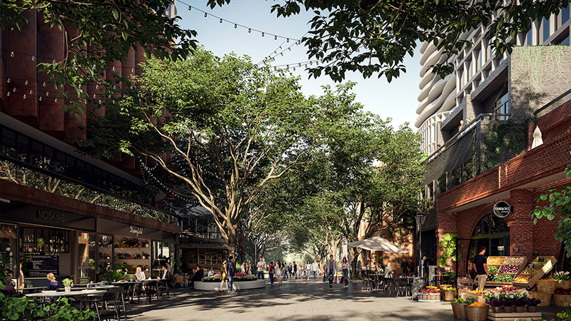 ▲ The pedestrian experience will be prioritised over cars in this new premium neighbourhood of Melbourne's North. Image: Supplied