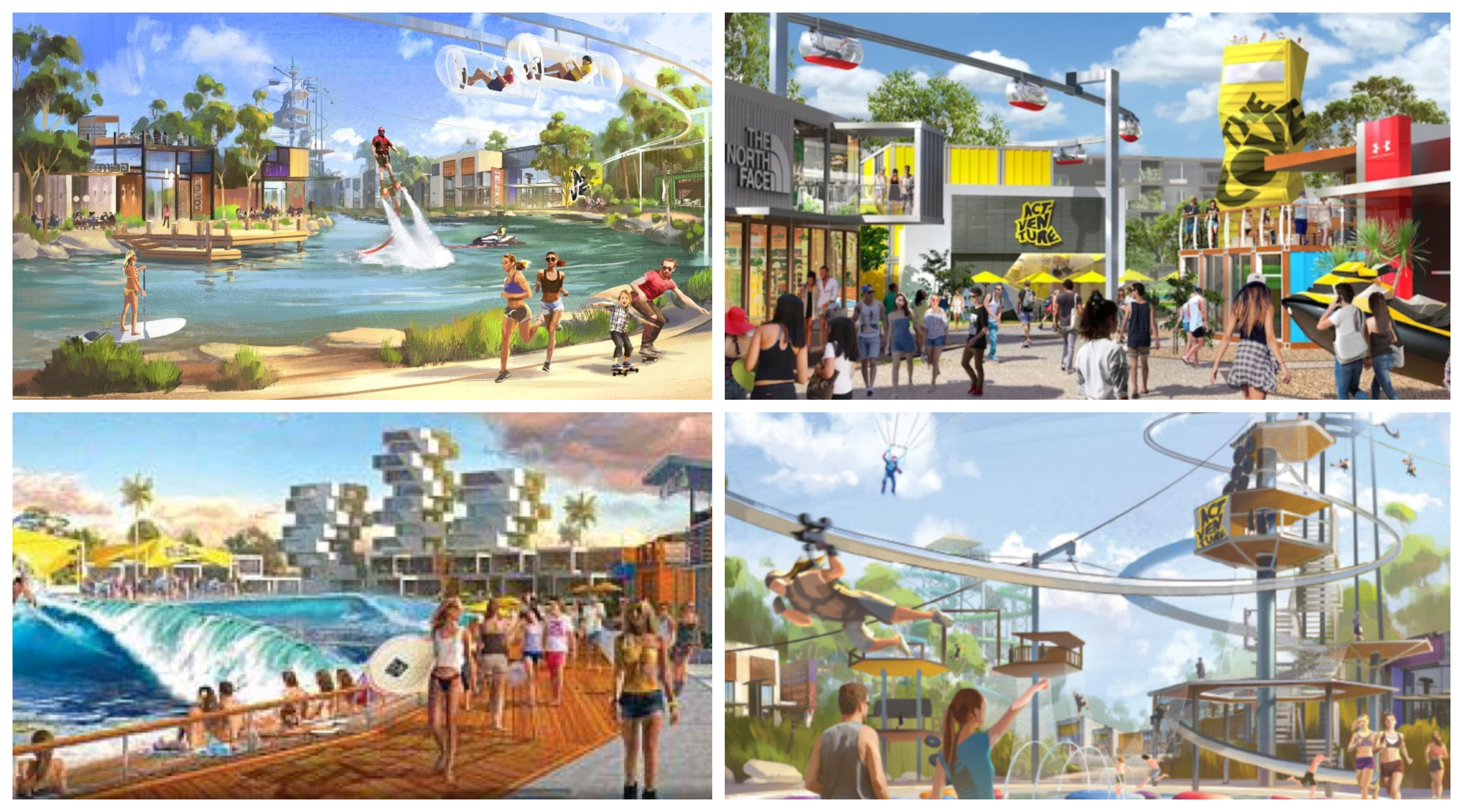 An artist's impression of ACTVENTURE, the $450 million theme park planned for 2652 Steve Irwin Way.