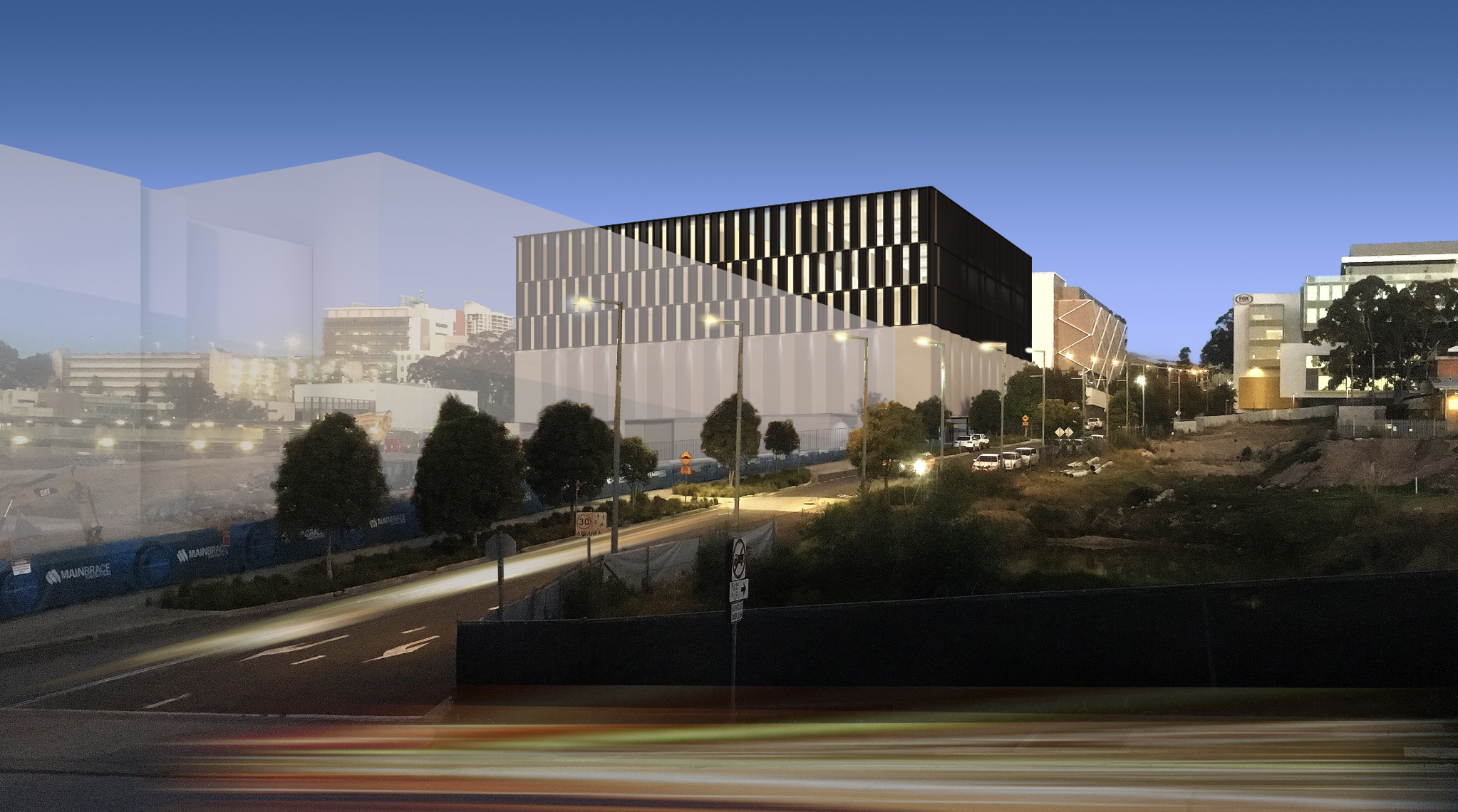 A render of lot 3 Broadcast Way, Gore Hill.