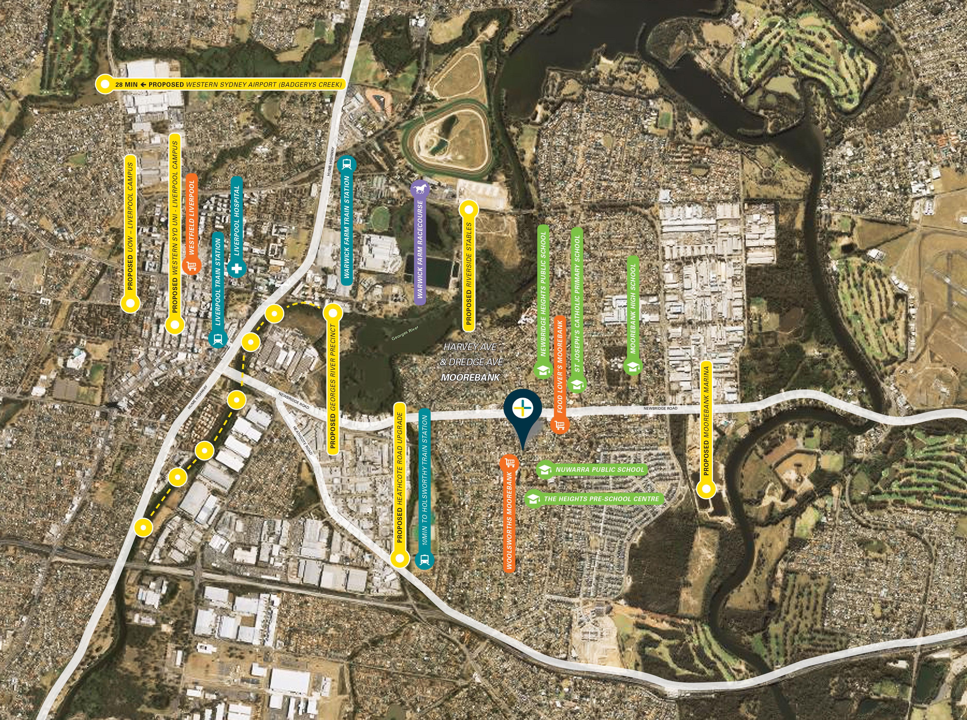 Moorebank development map