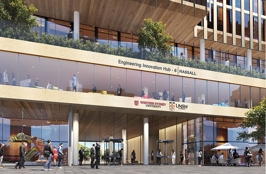 ▲ The University entered into a joint venture partnership with Charter Hall to deliver a mixed-use development on the site at 2b-6 Hassall Street, Parramatta. Image: Tzannes and Blight Rayner Architecture