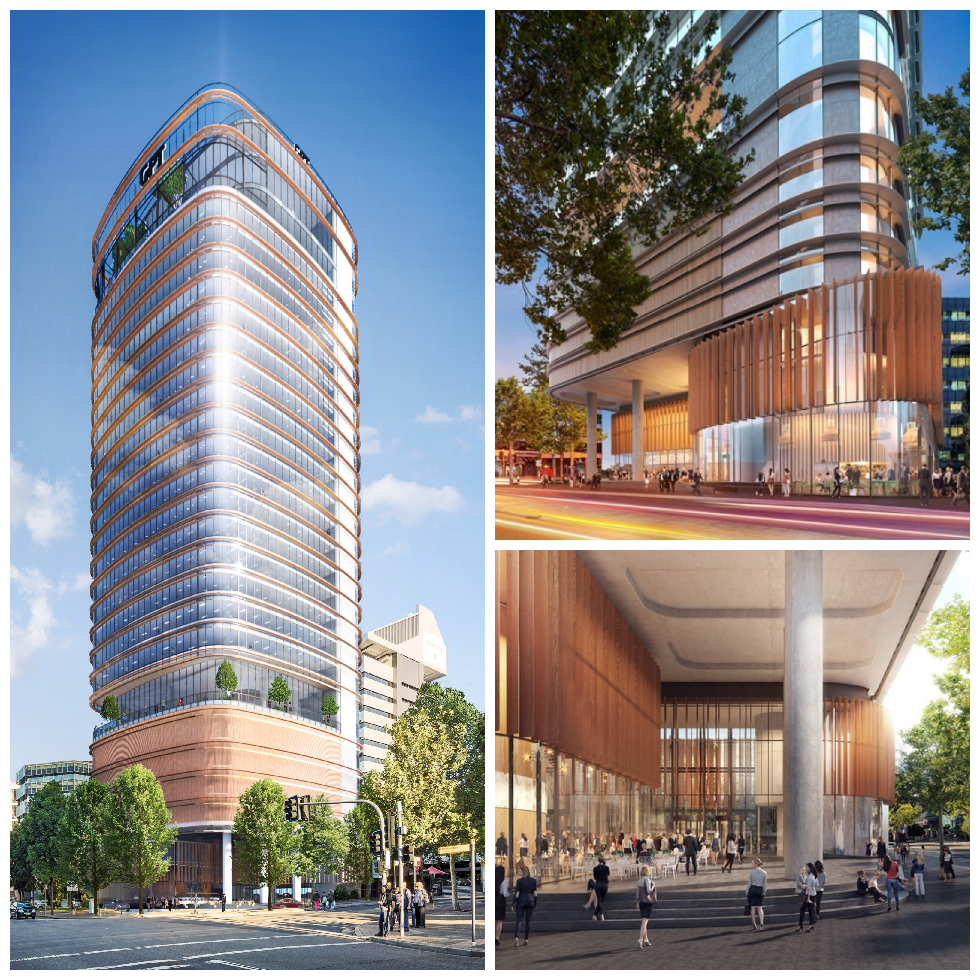 Designed by Fender Katsalidis, 32 Smith Street will feature a ground level 'urban room' event space and an elevated podium terrace.