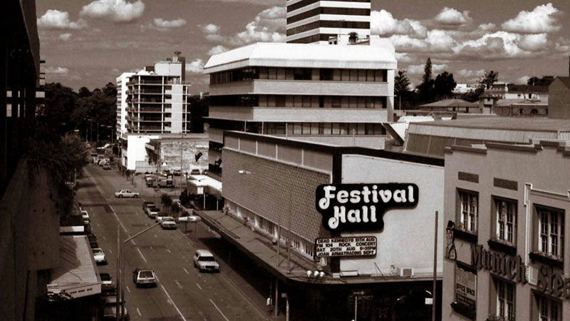 Brisbane music venue Festival Hall was demolished in 2003.
