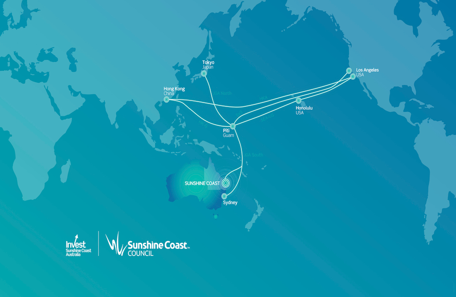 550km of cable will connect to the 7000km Japan-Guam-Australia South (JGA-S) submarine cable to a landing station at the entrance to the Maroochydore CBD.