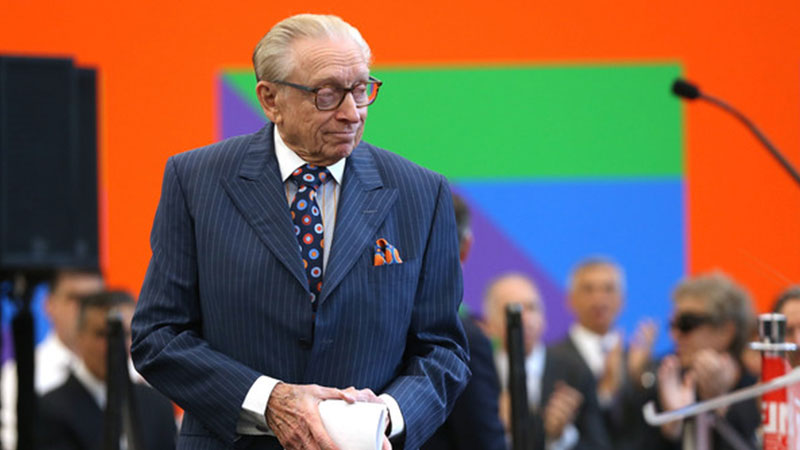 ▲ Larry Silverstein at the opening of the 80-storey 3WTC, designed by British architect Richard Rogers, in June last year.