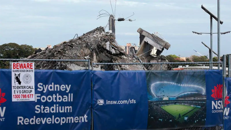 ▲ Stage one, the demolition of the previous stadium which opened in January 1988, has been mostly completed. Image: Jonathan Ng