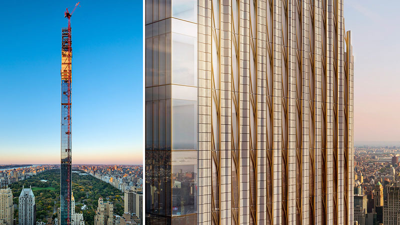 ▲ Steinway Tower: Its height-to-width ratio 24:1 makes it the skinniest tower in the world.