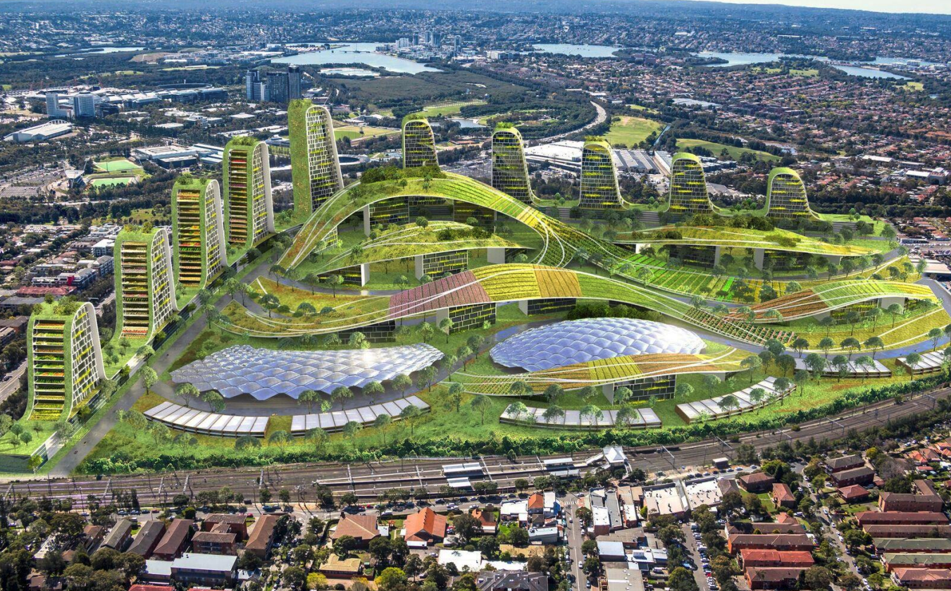 Architect Tony Owen's vision for the Flemington site is for green and connected urban agriculture.