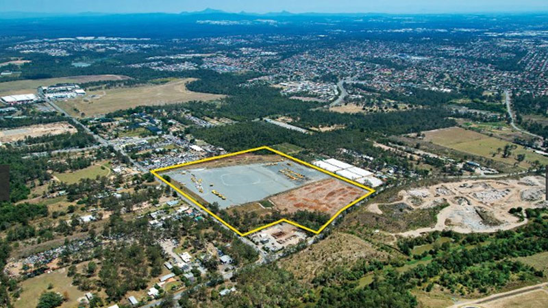 ▲  A 21.25ha parcel of land at 182 Bowhill Road, Willawong has transacted in Brisbane's south for $41.5 million.