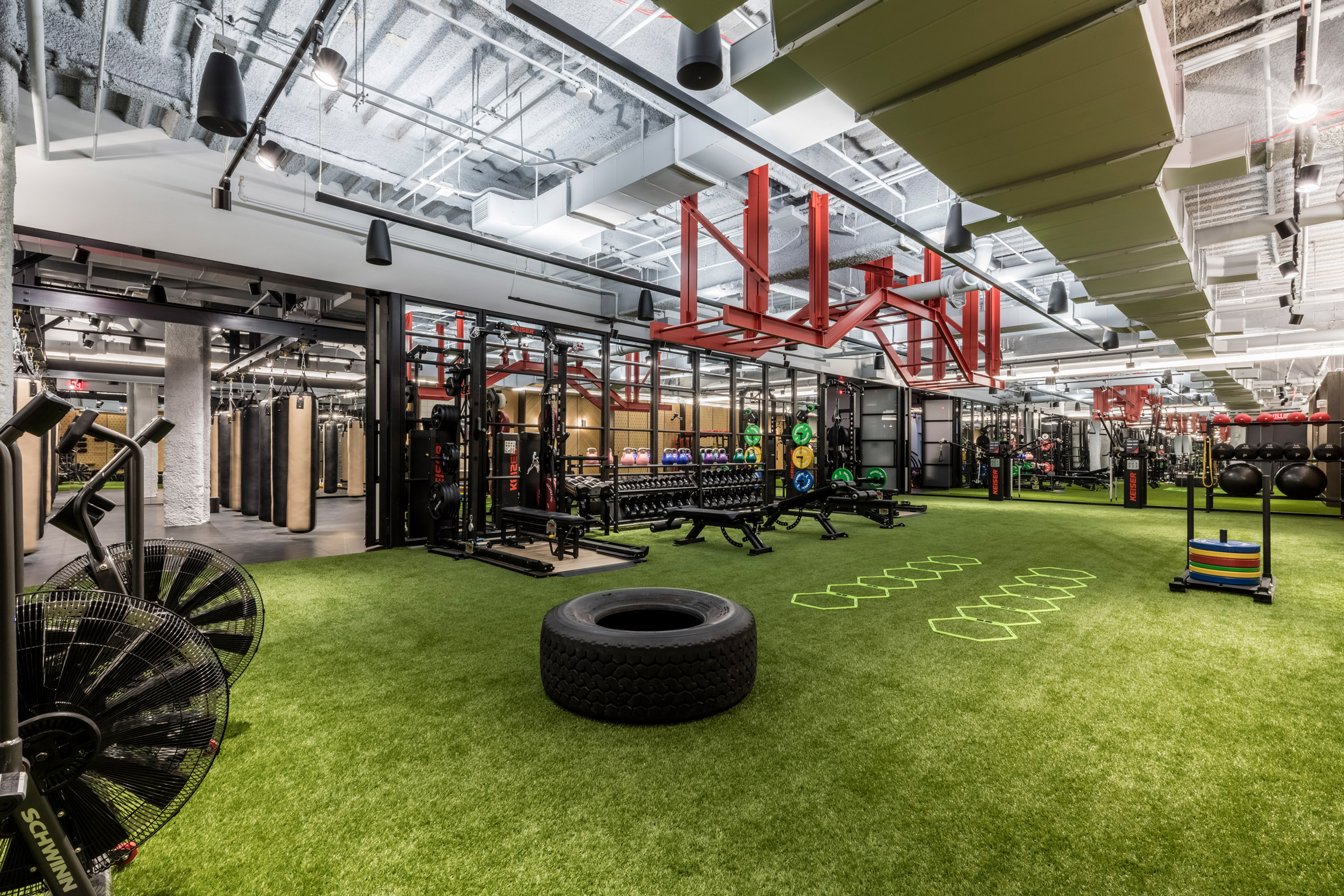 In 2017 WeWork ventured into the world of fitness opening their first gym in New York City, called Rise by We. The gym forms part of the WeWork's progressive outlook on creating spaces that suit contemporary lifestyles.