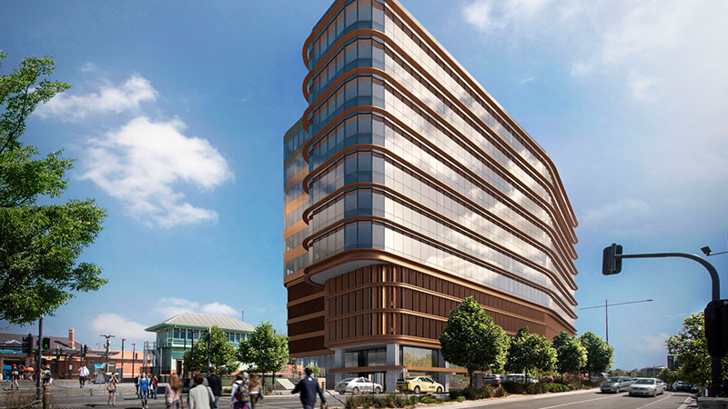 ▲ Eastland owners QIC have launched construction on the 11-storey commercial tower opposite Ringwood Town Square.