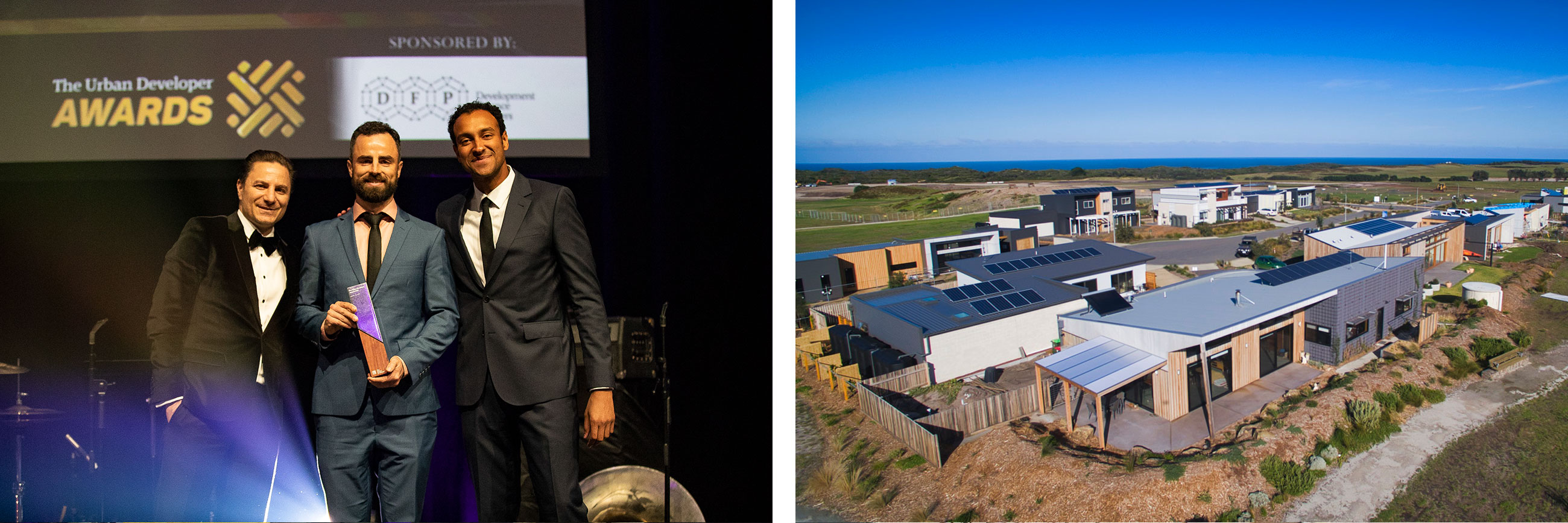 The judges recognised The Cape as Australia's first net zero carbon estate and the first to produce a surplus of renewable energy.