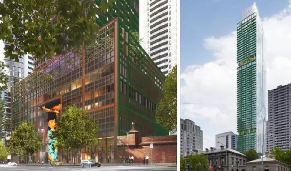 ▲ Sterling Global's shelved residential scheme at 383 La Trobe Street. Image: Ateliers Jean Nouvel.