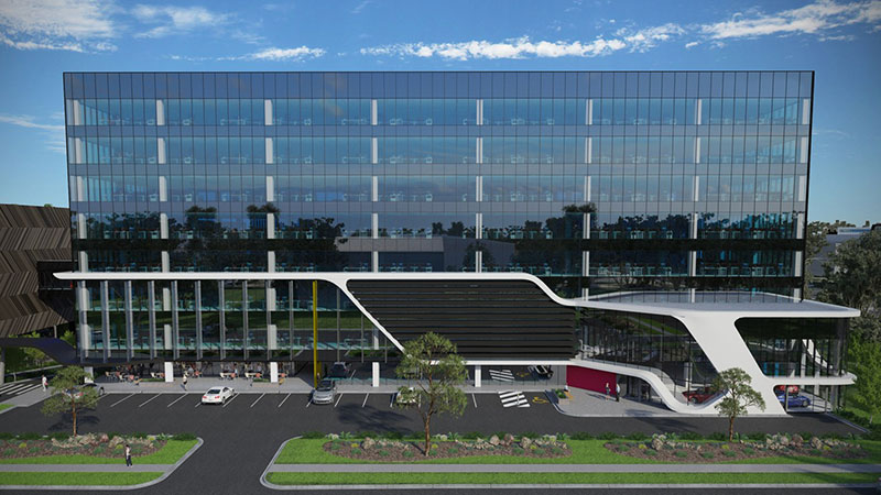▲ Plans for the eight-level building that will be the national headquarters for Nissan at 254 Wellington Road in Mulgrave.