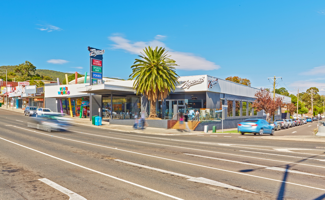 Zagame's Boronia hotel in east Melbourne is for sale.