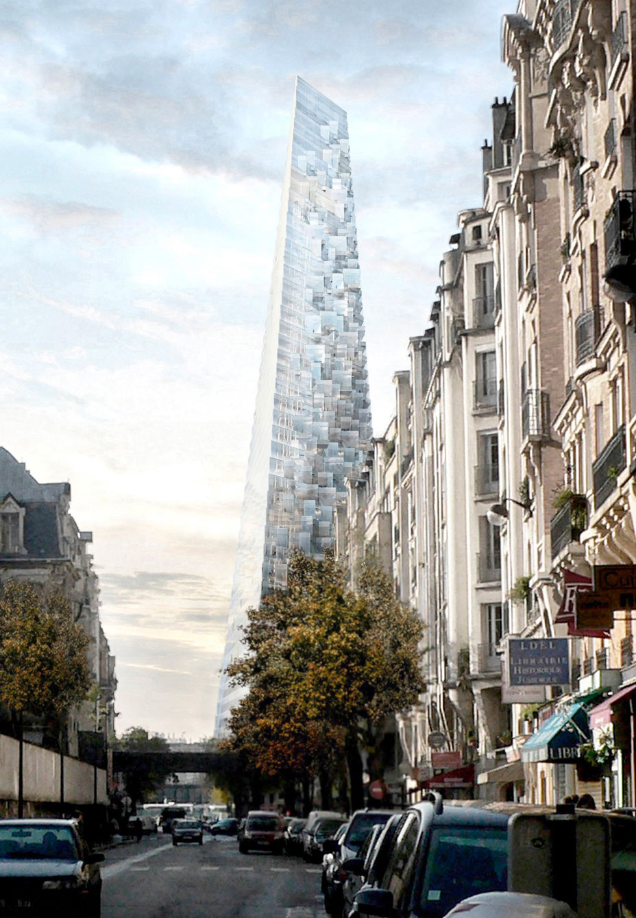 The Tour Triangle will become the city's third tallest building after the Eiffel Tower and the Montparnasse Tower.