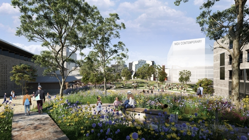 ▲ The NGV Contemporary, Creativity Centre and 18,000 of public space will transform the Melbourne Arts Precinct. Image: Hassell + SO-IL