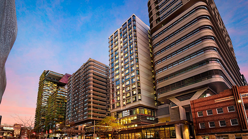▲ The 297 room Four Points by Sheraton hotel near Sydney Central station.