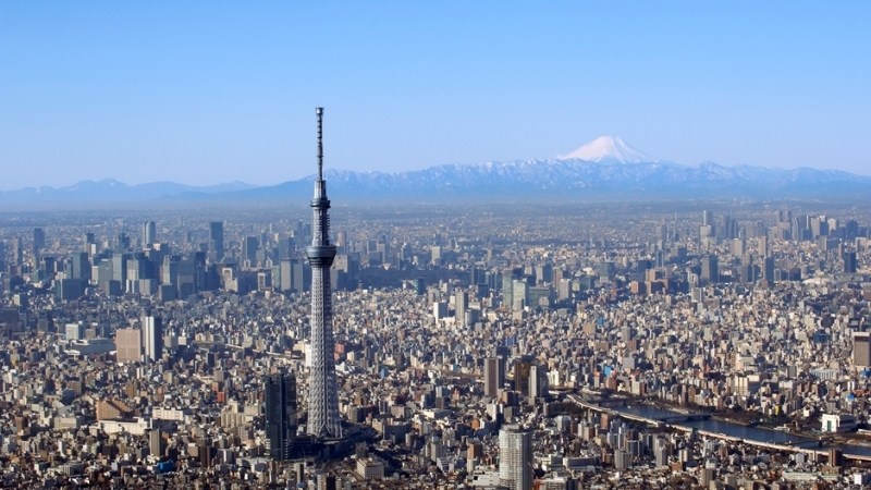 ▲ The 634m high Tokyo Skytree was designed by Nikken Sekkei, completed in 2012 and is the world's tallest, freestanding broadcast tower.
