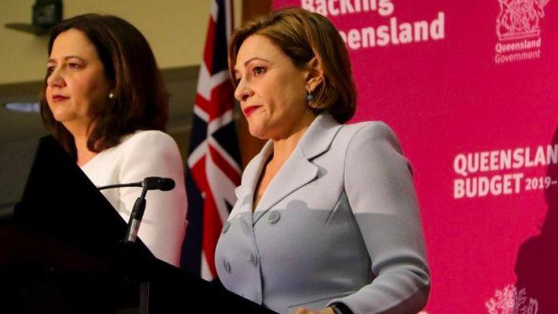 Treasurer Jackie Trad and Premier Annastacia Palaszczuk delivered a modest budget surplus. Image: Nick Wiggins