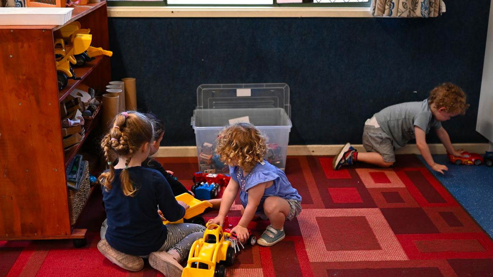 ▲ Childcare still remains 26 per cent below the March 2020 level.