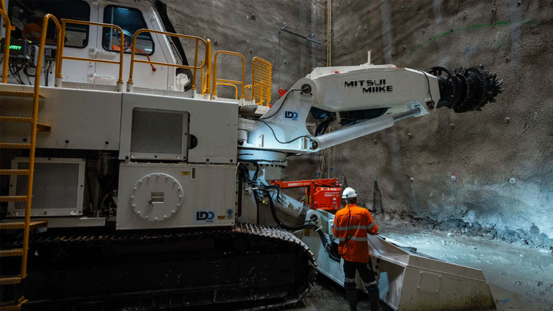 Cross River Rail tunneling