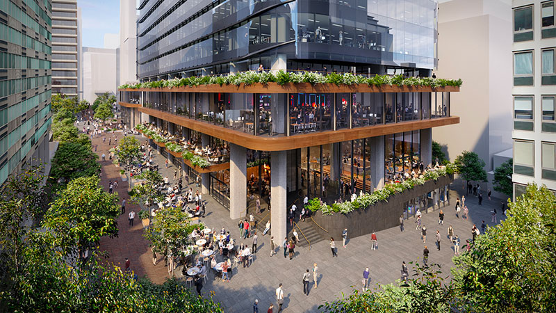 ▲ Microsoft is set to shift its Australian head office from North Ryde to North Sydney, taking a 10-year lease in a building shaping as a tower of tech. Image: Bates Smart