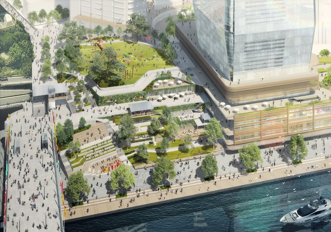 Gpt  Amp And Brookfield Revise  1 Billion Darling Harbour