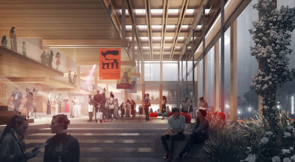 The winning proposal for the refurbishment of the Sutherland Entertainment Centre by Chrofi and NBRS Architecture