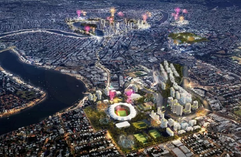 ▲ The blueprint for Brisbane 2032 Olympic Games under new rules that would allow a region, rather than a city to host the event. Images: Urbis