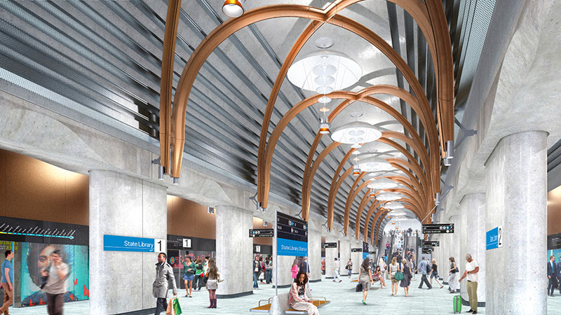 Melbourne Metro Tunnel - State Library Station