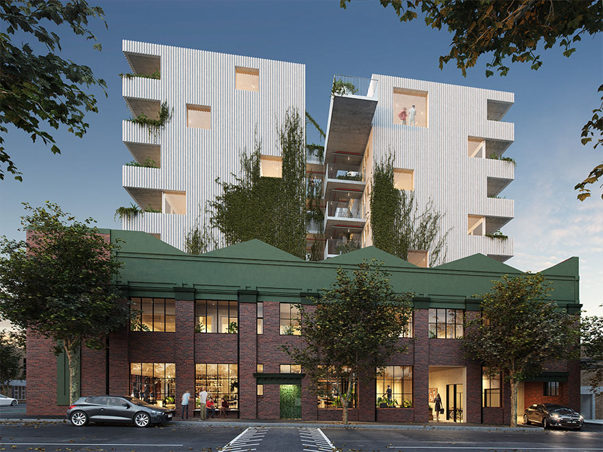 The Assemble Model's pilot program, a $60 million, 73-apartment development in Kensington.