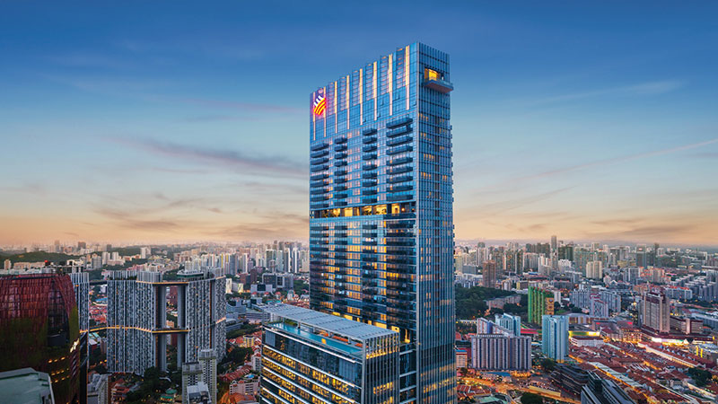 Dyon's new home is in the Tanjong Pagar Centre, also known as Guoco Tower, completed in 2016.