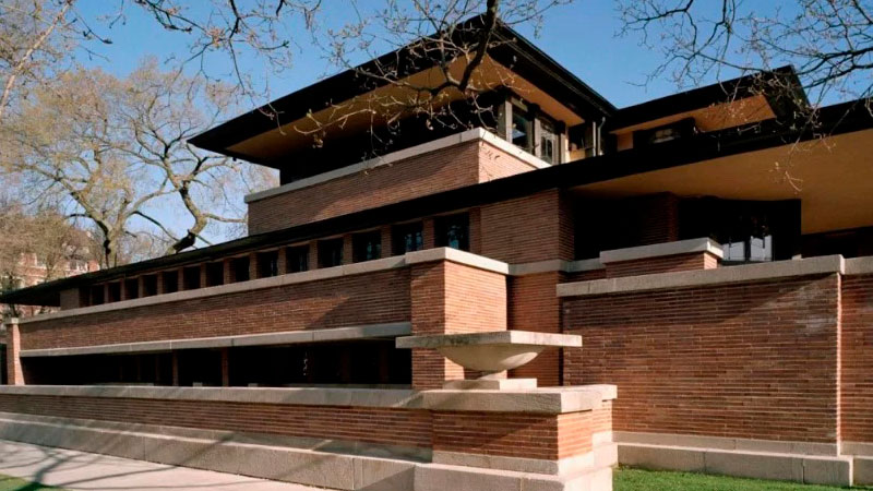 The Frederick C. Robie House. Chicago, Illinois.