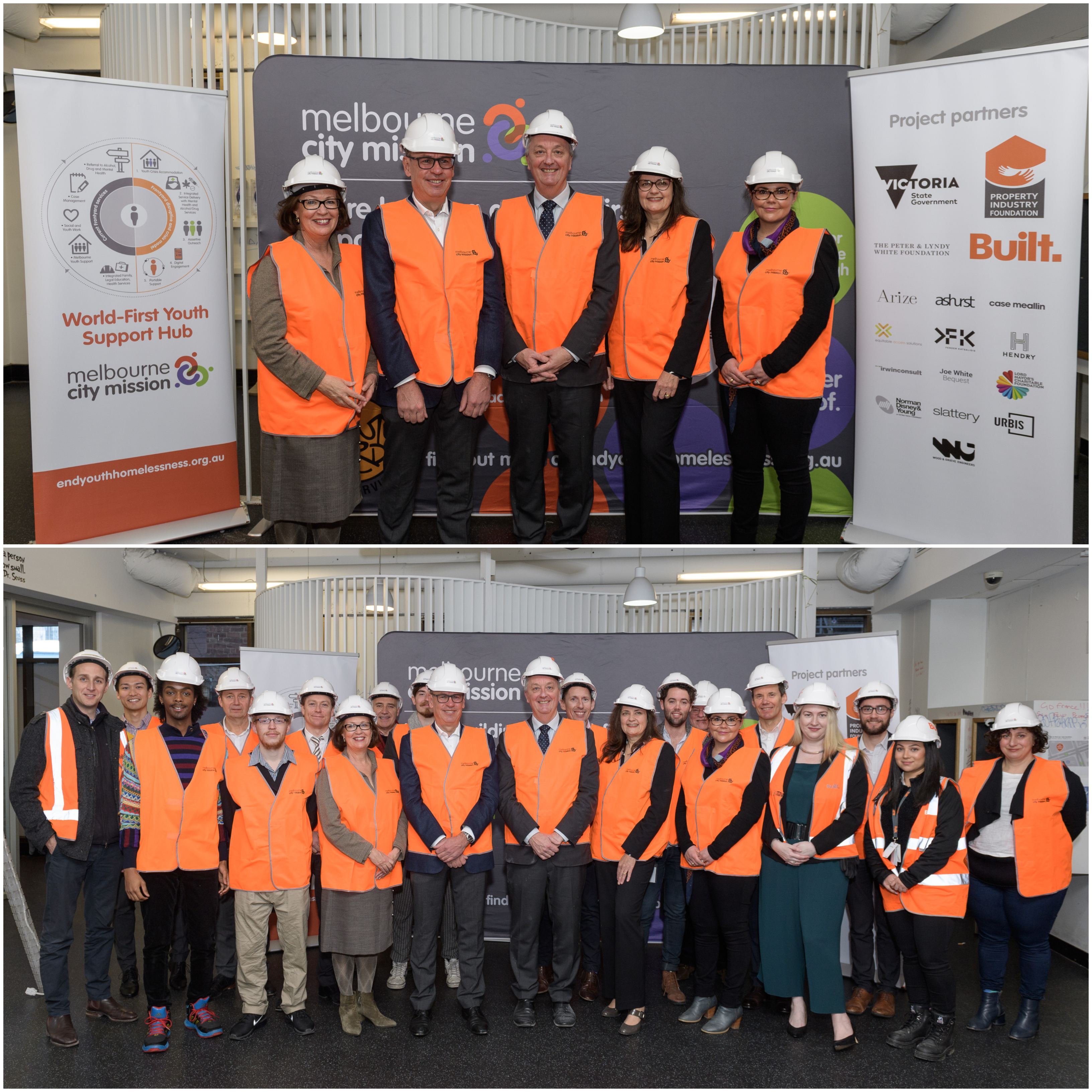 Victorian Minister for Housing Martin Foley was onsite at 19 King Street to mark the start of the $8 million construction project