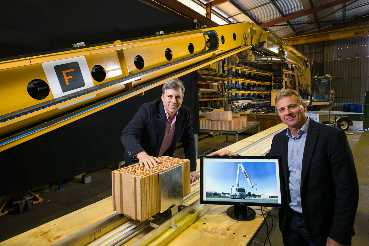 Fastbrick Robotics' CTO, Mark Pivac, and CEO, Mike Pivac