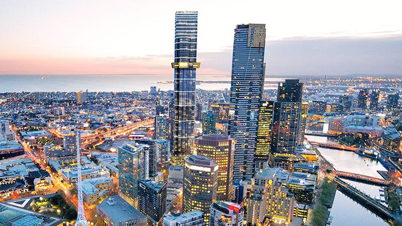 ▲ The Fender Katsalidis-designed Australia 108 at 70 Southbank Boulevard, sits close to the Eureka Tower.
