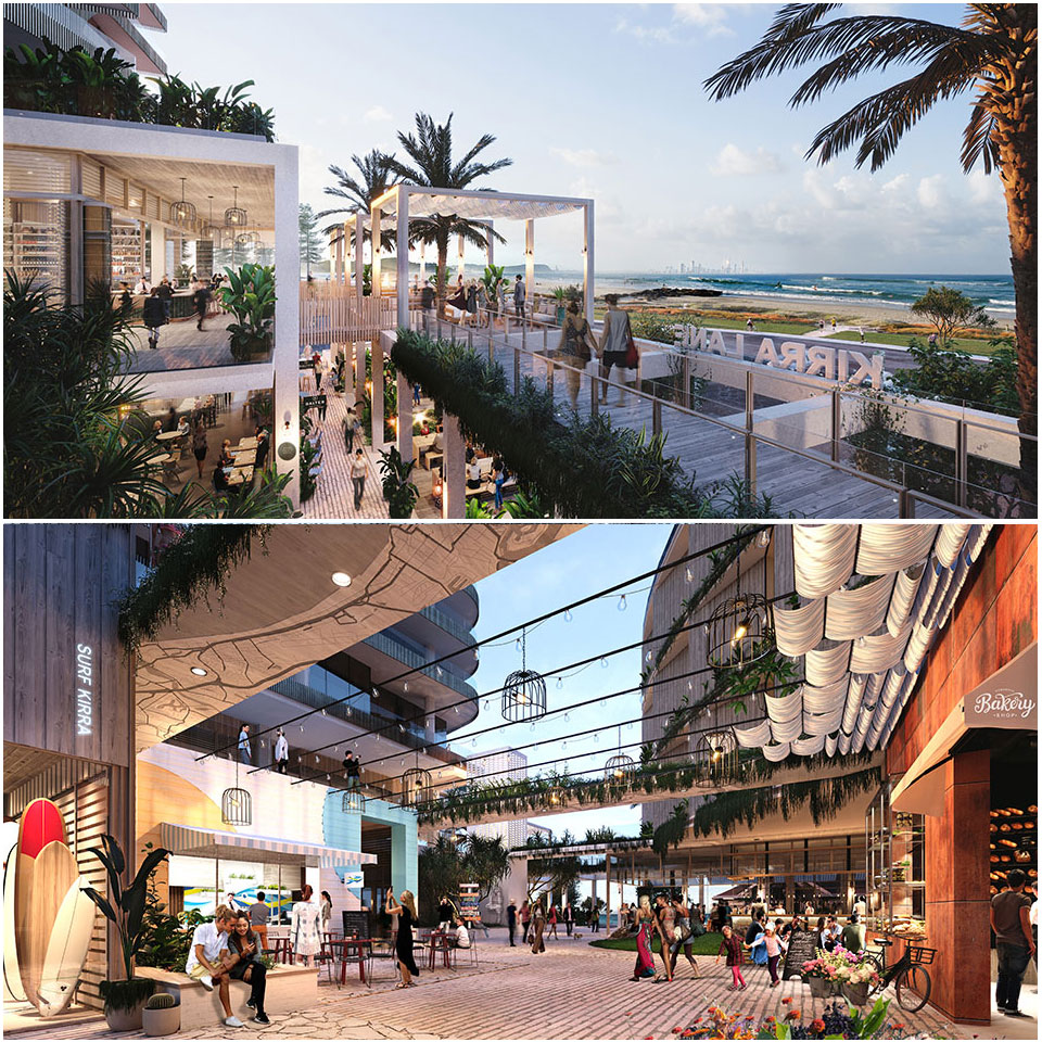 ▲ Plans for the redevelopment of the Kirra Beach Hotel.
