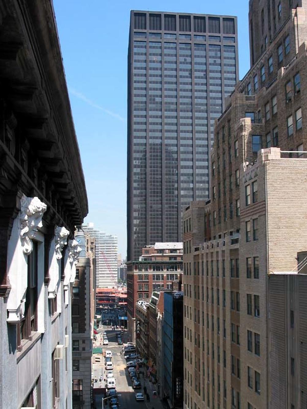 The 39-storey Deutsche Bank Building was completed in 1974.