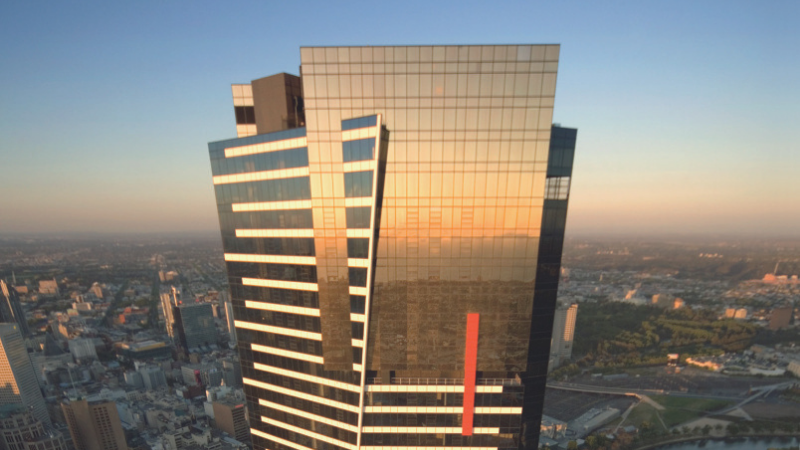 ▲ Melbourne's iconic 24-carat gold-plated Eureka Tower. Image: JLL