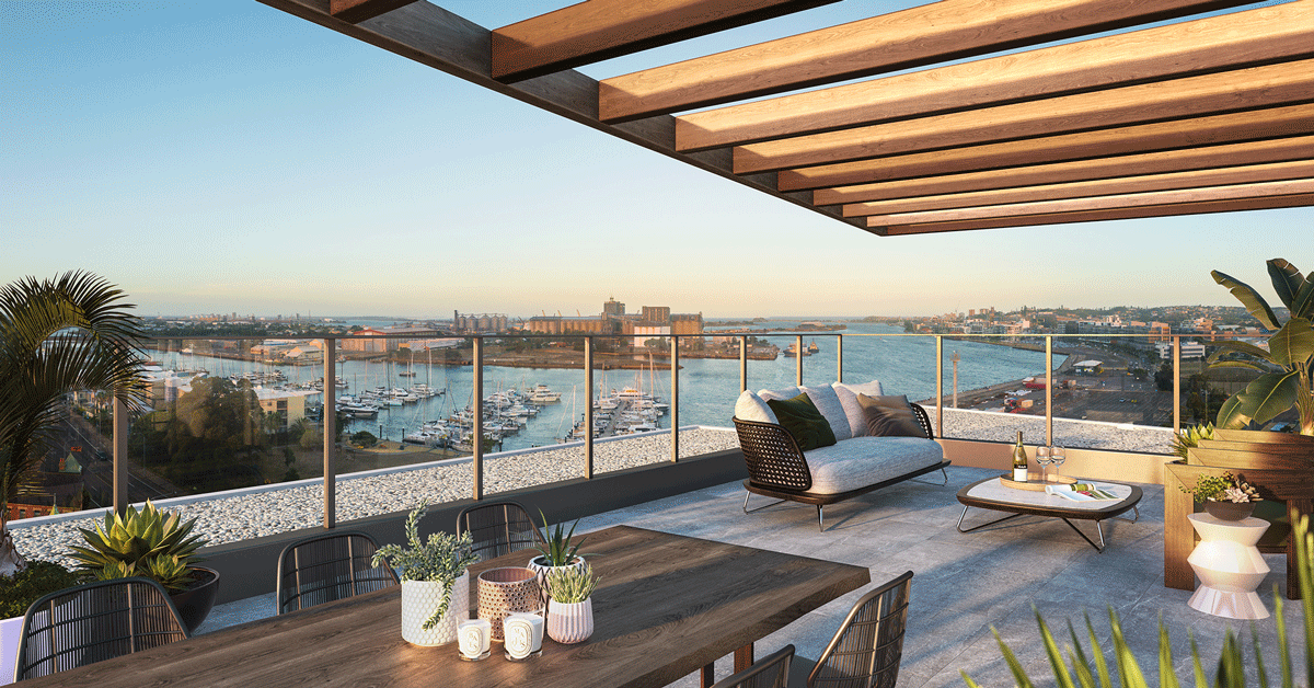 The commanding North East aspect looking over the harbour allows for the maximum number of apartments to experience uninterrupted views of the harbour and the city.