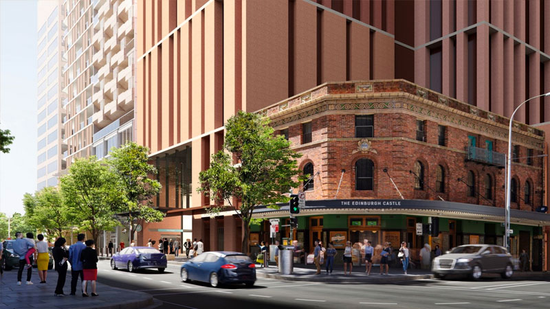 ▲ Earlier this year Oxford lodged plans for a 234 apartment build-to-rent residential tower on Sydney's Pitt Street.