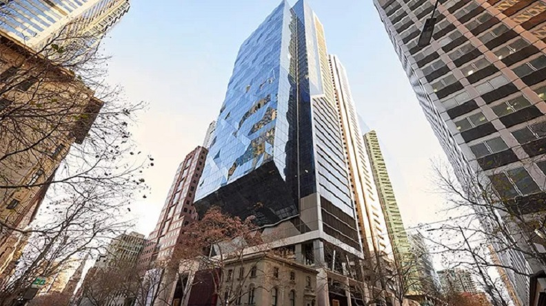 ▲ The 38-level office tower standing 216 metres tall at 80 Collins Street in Melbourne's CBD was completed in June 2020.