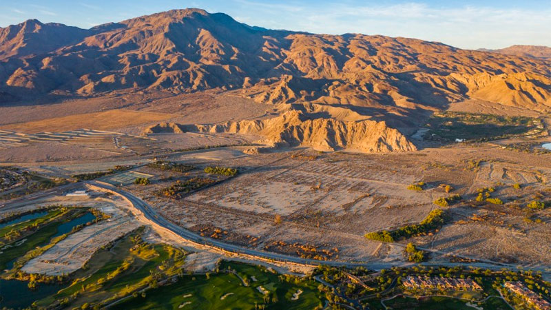 The site of the proposed Coral Mountain resort at the base of Coral Mountain in La Quinta.