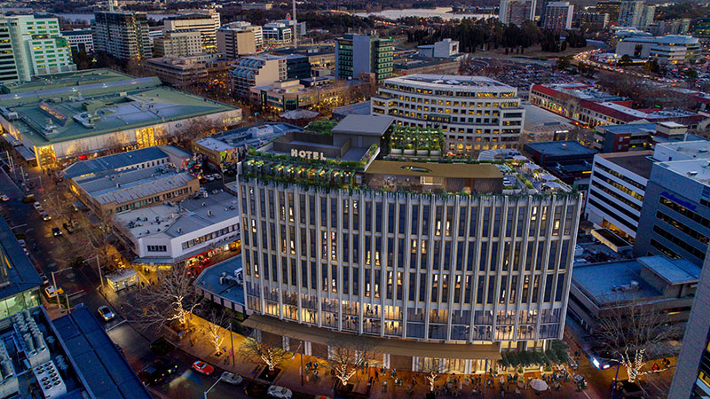 ▲ Canberra City Luxury Hotel, at 60-70 Bunda Street and adjoins Garema Place, is approved for next step in development.
